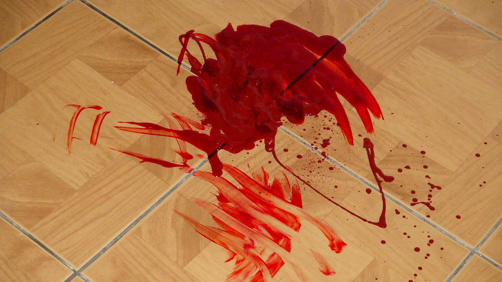 Artificial puddle of blood by jajafilm