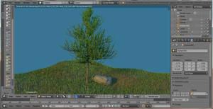 Tree and grass 04 by jajafilm