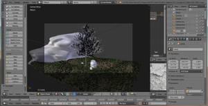 Tree, grass and rock 01 by jajafilm