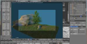 Tree, grass and rock 02 by jajafilm