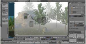 Trees in the fog 01 by jajafilm