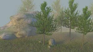 Trees in the fog 02 by jajafilm