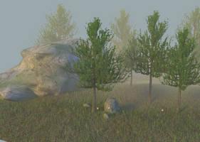 Trees in the fog 03 by jajafilm