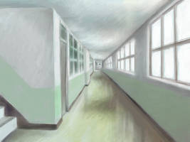 Green Hallway by skimlines