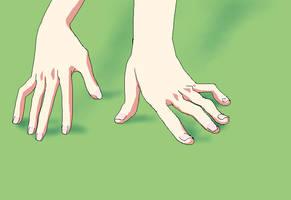 Hands Green by skimlines
