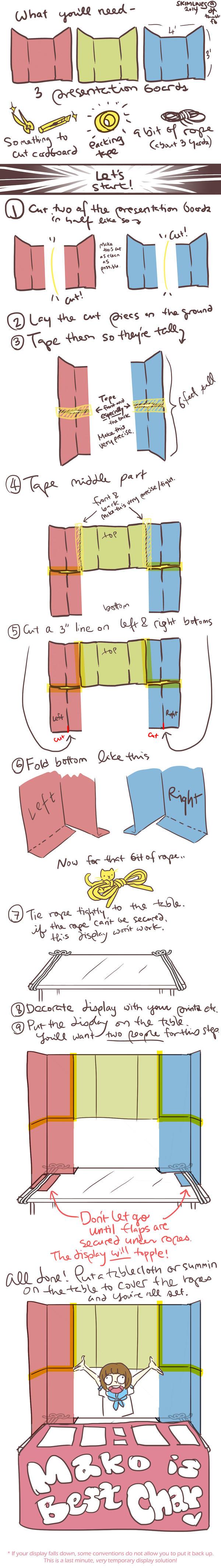 How to make cardboard Display by skimlines