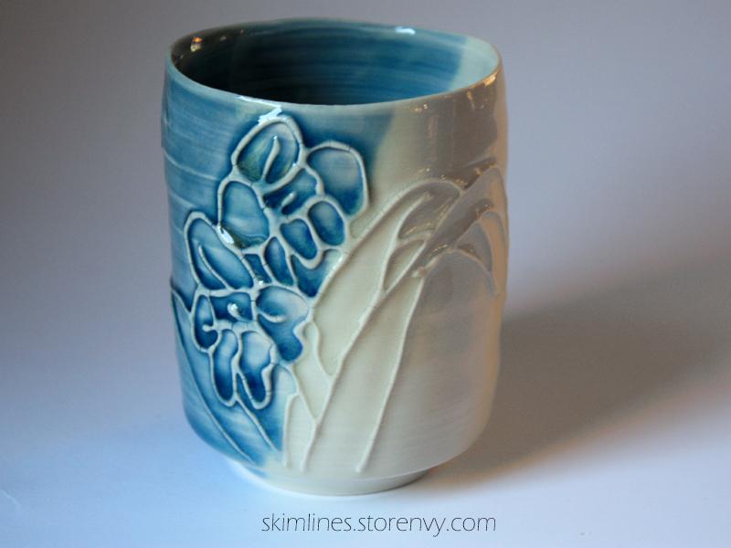 Iris Tea Cup by skimlines