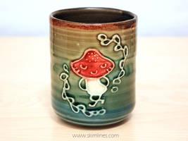 Sassy mushroom tea cup by skimlines