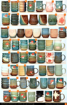 April Pottery Inventory