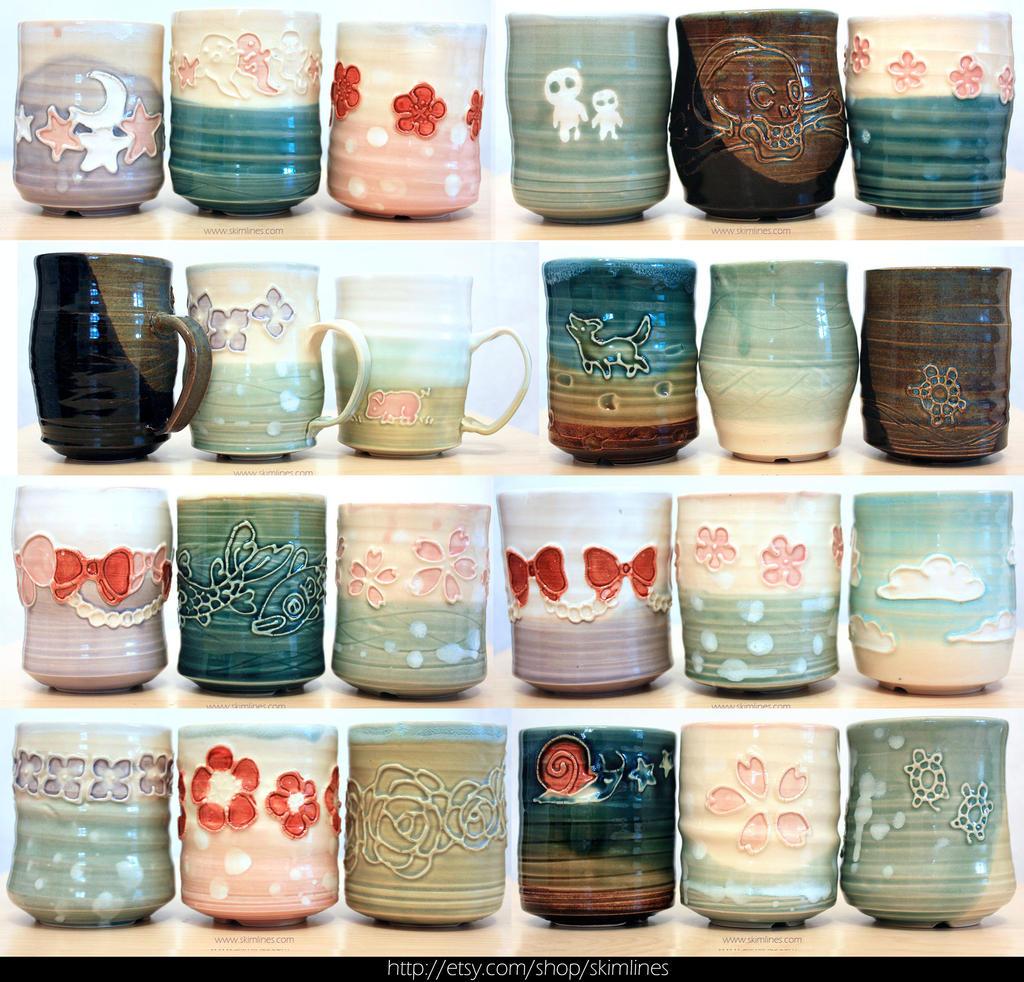 August 2015 Pottery batch 1 by skimlines