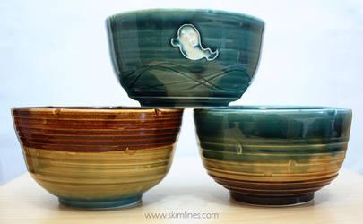 Ghost, rainbow, upsidedown rainbow bowl