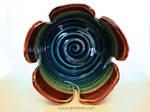 Mushroom Yarn bowl top view for flower apperance
