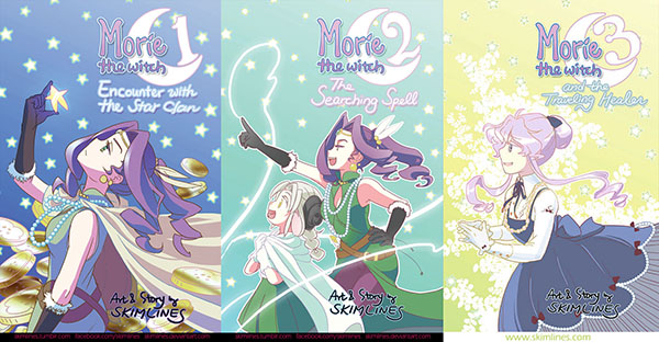 Morie the Witch issues 1, 2, and 3 by skimlines
