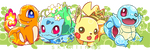 PokemonGO starters by skimlines