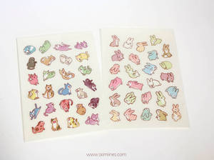 Rabbits and cats stickers