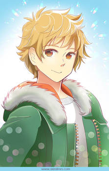 Yukine from Noragami with Bronze Zippers