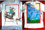 FOR SALE: Hand-painted T-shirts: Horse, Wolves by Arferia