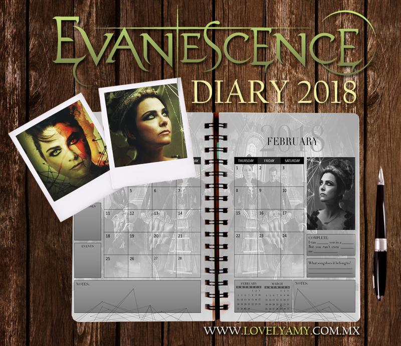 Evanescence Diary 2018 by lovelyamyweb