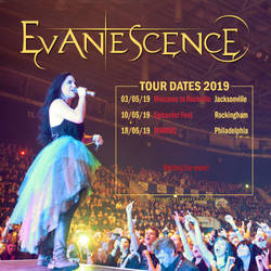 Evanescence [Tour Dates 2019] by lovelyamyweb