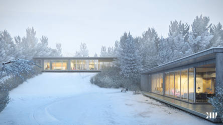Winter House VIII by Black-Haus