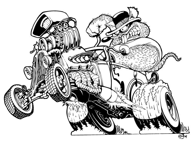 Line Art Rat : Ratrod tour autos post