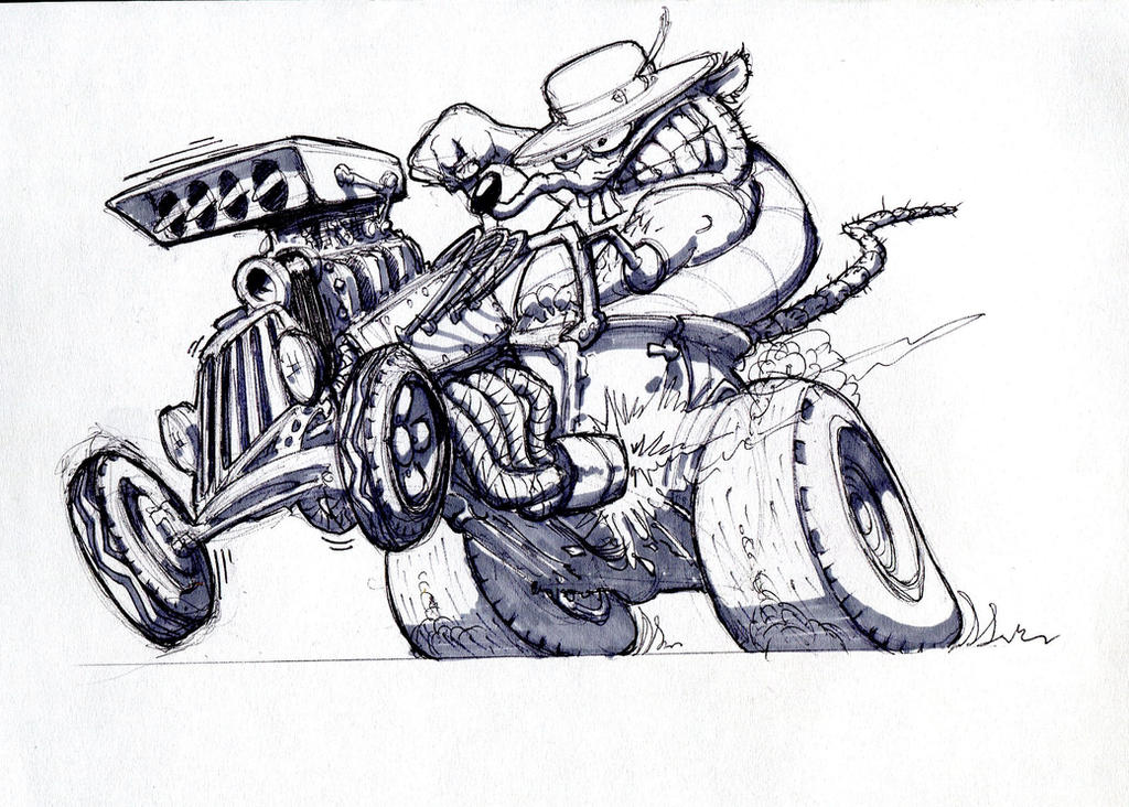 Rat Rod sketch design 2 by Peterkat