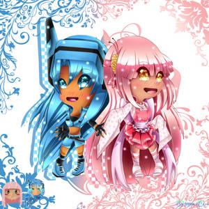 [Gift Mascot Friends!] Milky And Akime Ga Anime~:3 by xXAlshaniXx