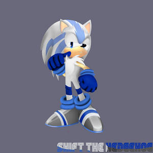 [FREE COMMISSION]Shift The Hedgehog 3D by xXAlshaniXx