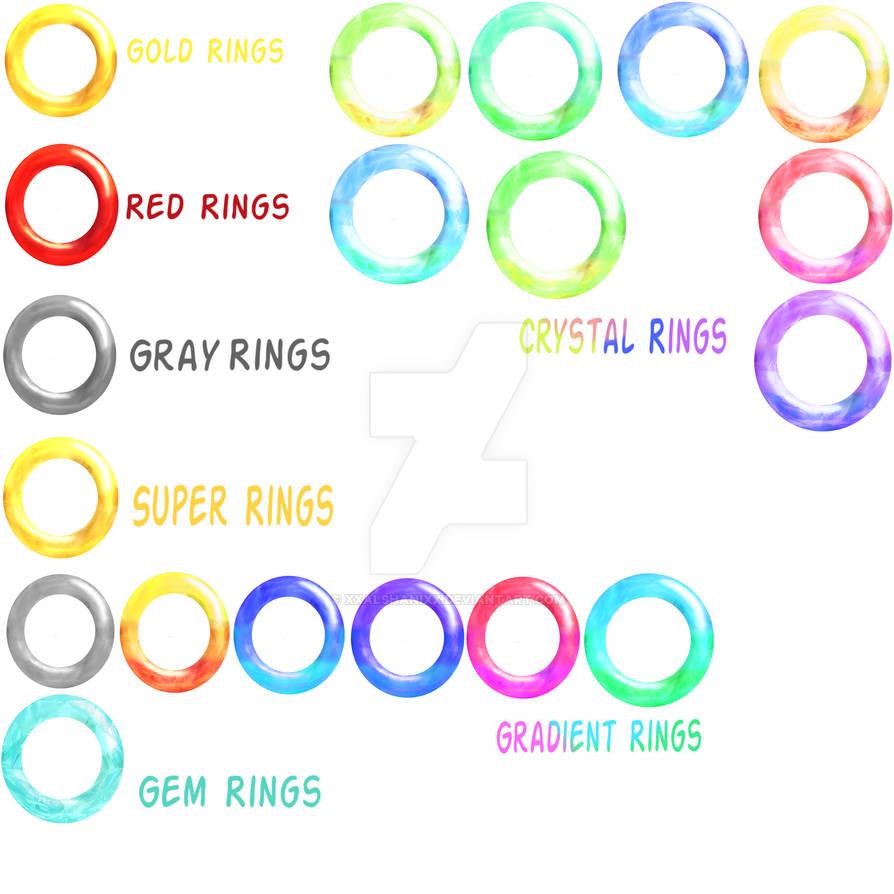My 3D Ring Set by xXAlshaniXx