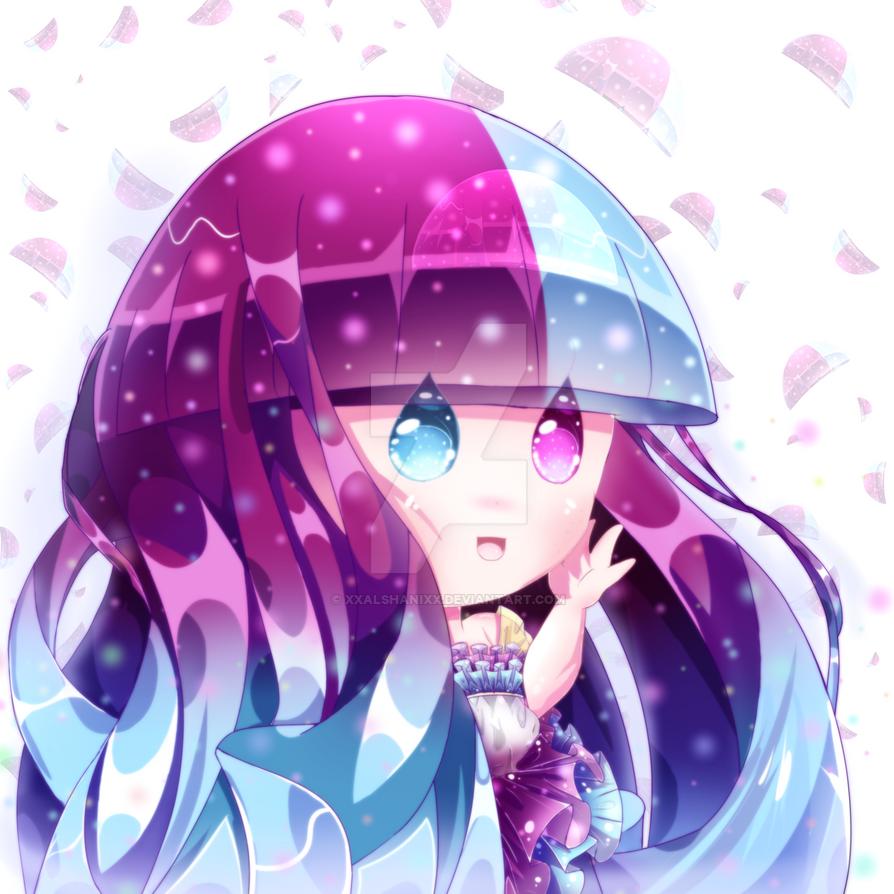 Meido The Chibi Jellyfish!! by xXAlshaniXx