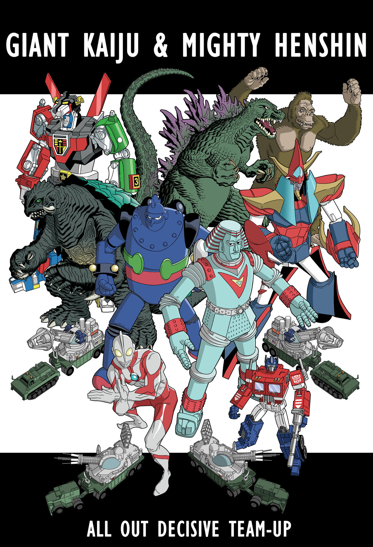 Godzilla Gamera Ultraman etc..