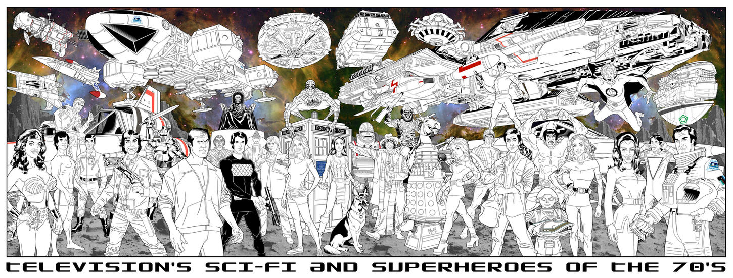 TV's Sci-Fi and Superheroes by dusty-abell