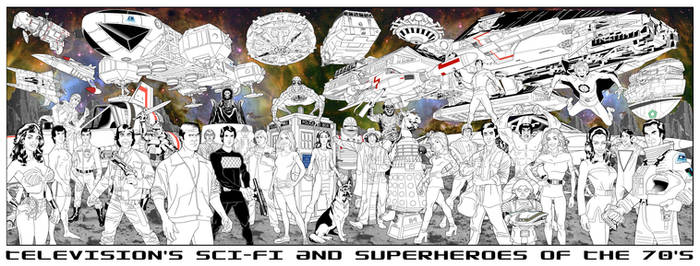 Less Big Sci-Fi Superhero Jam by dusty-abell