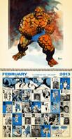 2nd Month, Feb. 2013 Retro Marvel Calender