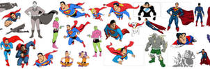 Superman 75 key poses
