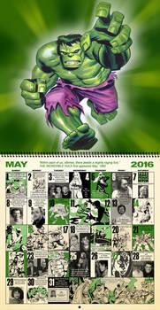 Retro Marvel Comics Calendar for May 2016.........