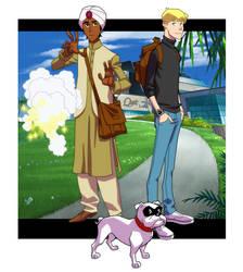 Jonny Quest and Hadji