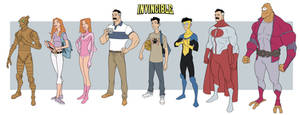 Invincible Animated Line Up Amazon Pitch Art