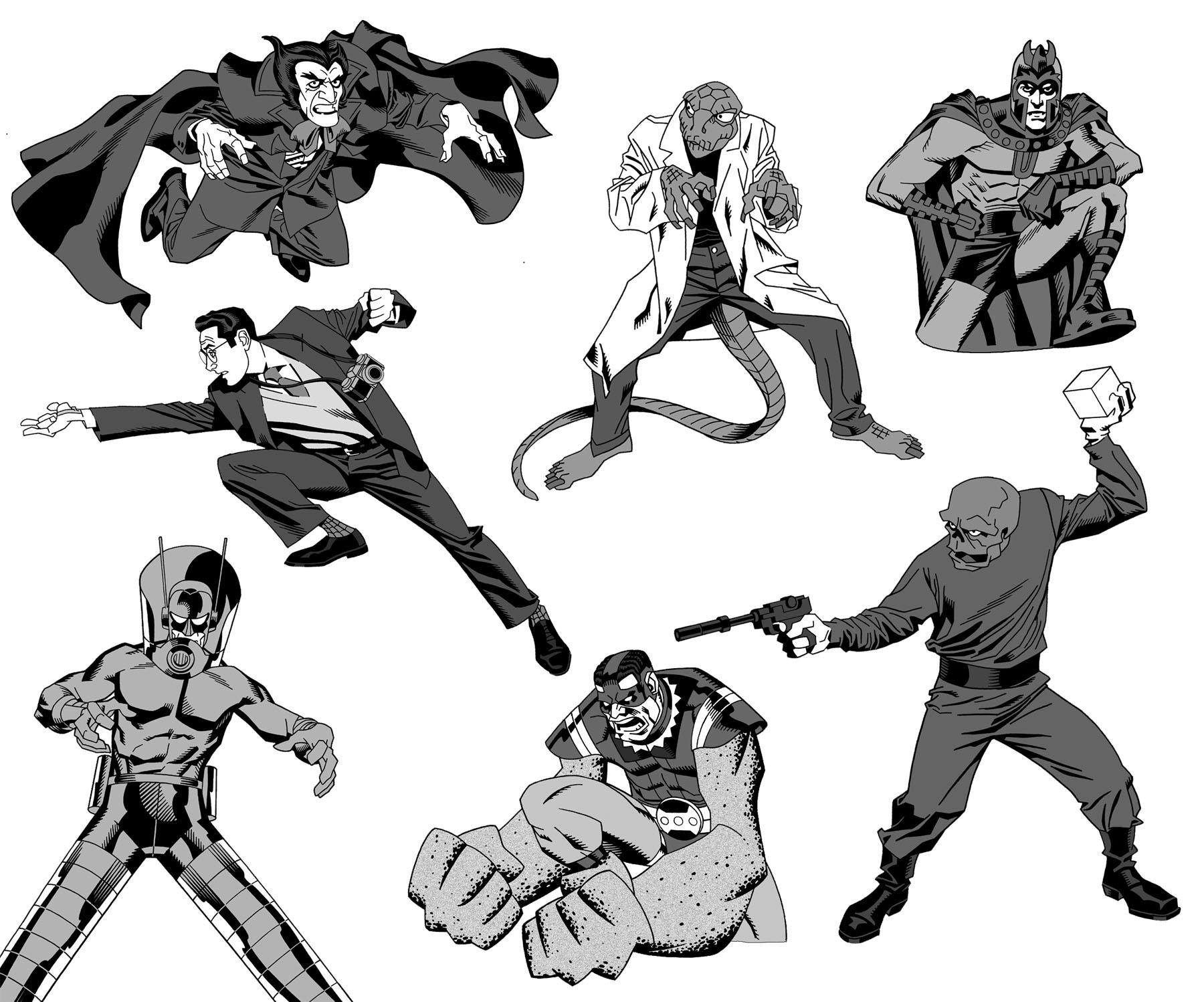 assorted marvel villains by dusty-abell