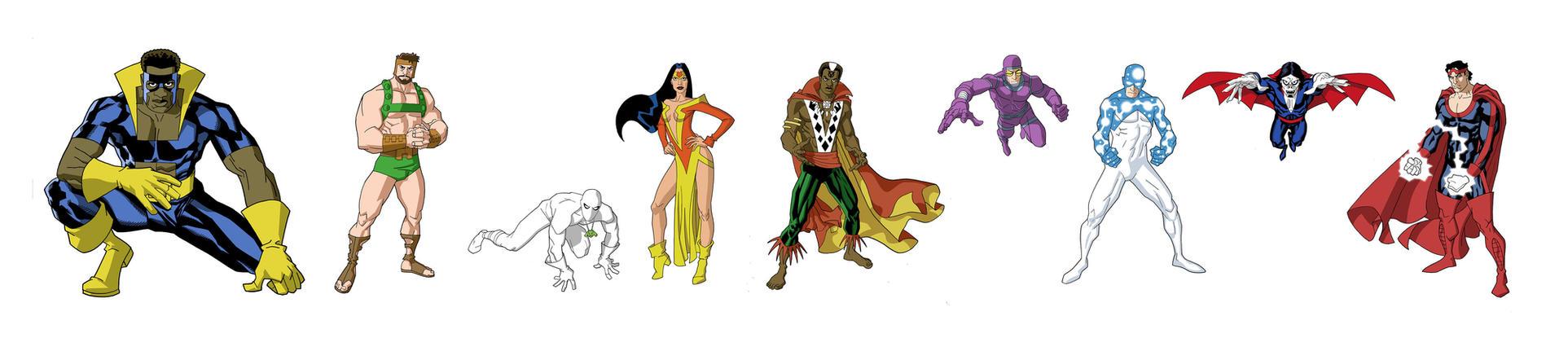 odd assortment of Marvel heroe by dusty-abell