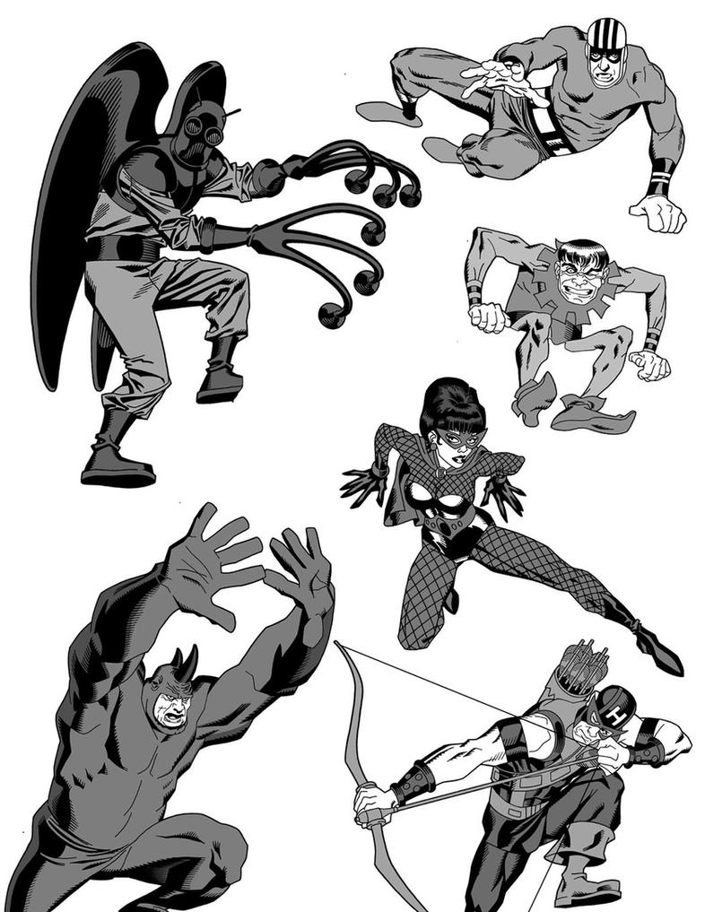 more 60's marvel bad guys by dusty-abell