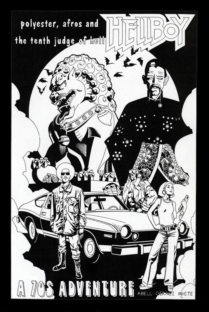 hellboy 70's adventure by dusty-abell