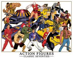 ACTION FIGURES, CLASSIC 70'S