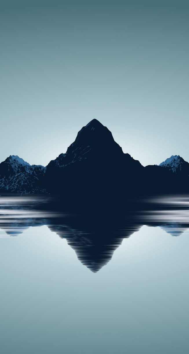 Amazing Wallpaper Mountain Ios - minimal_mountains_wallpaper_for_iphone_5s_by_barrieau-d5tv7nx  Gallery_885157.png