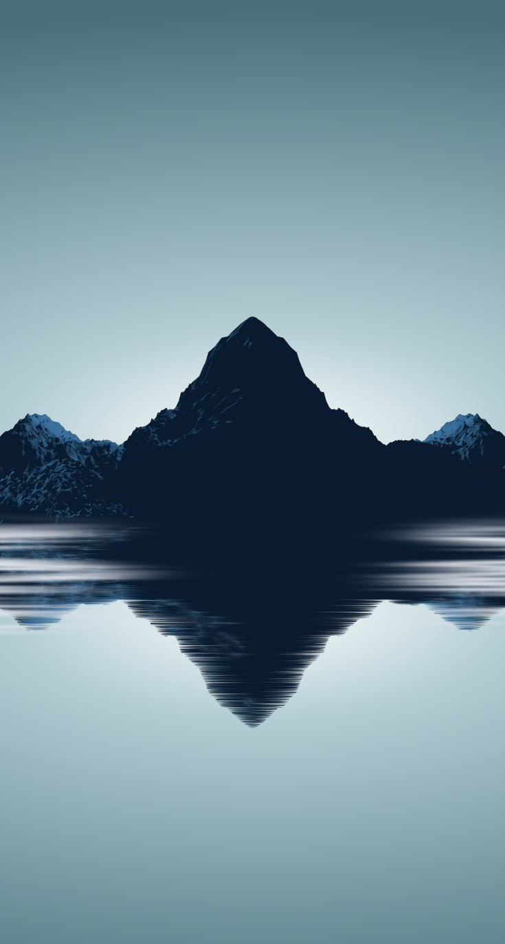 Minimal mountains wallpaper for iphone 5s by barrieau on for Deviantart minimal wallpaper