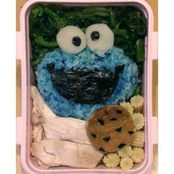 Cookie Monster Lunch box! by susanlin