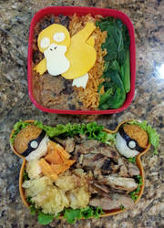 Psyduck pokemon lunch bento! by susanlin