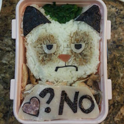 Grumpt cat lunch by susanlin