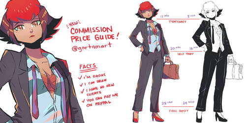 Hard Facts: new commission price guide! by GniratnaMleirA