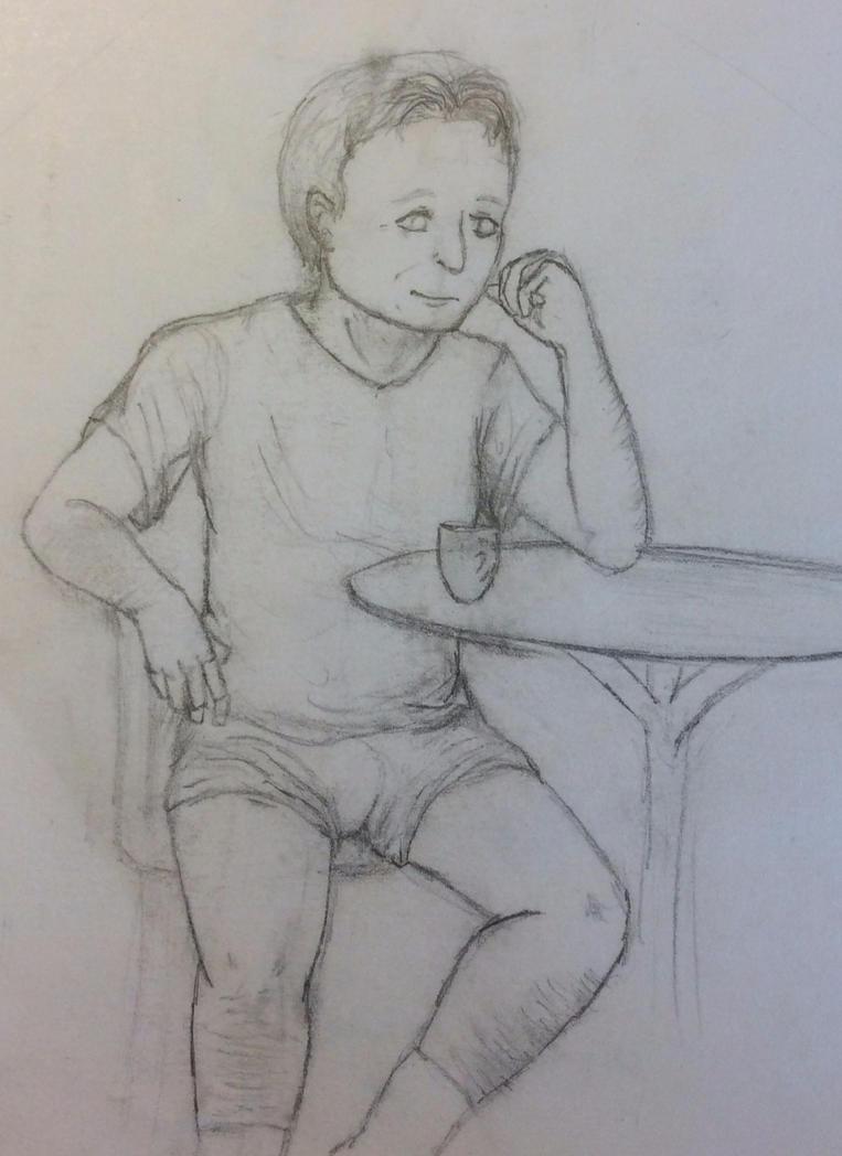 Jon-Stewart drawing by lostblood22